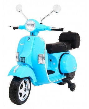 Elektrická motorka / skúter Vespa modrá